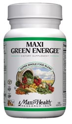 Maxi Health Kosher Maxi Green Energee (Energy Formula) 120 Vegetable Capsules