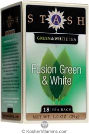Stash Tea Kosher Premium Fusion Green & White Tea - Case Of 6 18 Tea Bags