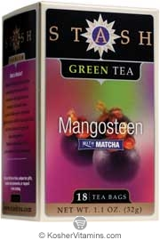 Stash Kosher Green Tea Mangosteen with Matcha 6 Pack 18 Tea Bags