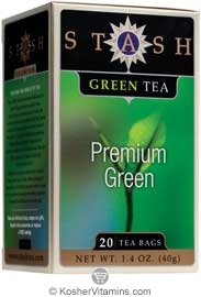 Stash Kosher Green Tea Premium Green 6 Pack 20 Tea Bags