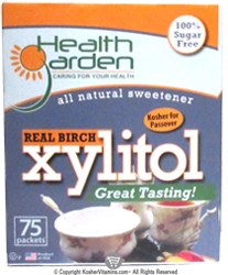 Health Garden Kosher Real Birch Xylitol  75 packets