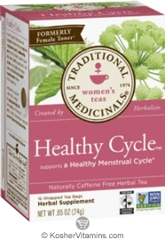 Traditional Medicinals Kosher Women's Healthy Cycle 16 Tea Bags