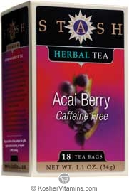 Stash Kosher Herbal Tea Acai Berry Caffeine Free 6 Pack 18 Tea Bags