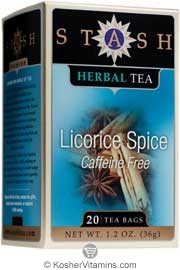 Stash Kosher Herbal Tea Licorice Spice Caffeine Free 6 Pack 20 Tea Bags