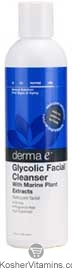 Derma E Glycolic Facial Cleanser with Marine Plant Extracts 8 OZ