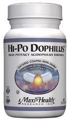 Maxi Health Kosher Hi-Po Dophilus High Potency Acidophilus 60 MaxiCaps
