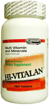 Landau Kosher Hi-Vitalan Multiple Vitamins with Minerals 300 Tablets
