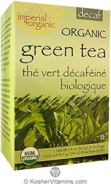 Uncle Lees Tea Kosher Imperial Organic Green Tea Decaffeinated 18 Tea Bags