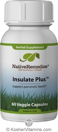 Native Remedies Kosher Insulate Plus  60 Vegetable Capsules