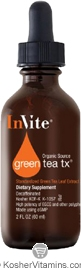 Invite Kosher Standardized EGCG Green Tea Tx Liquid Lemon Flavor 2 OZ