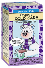 Traditional Medicinals Kosher Just for Kids Organic Cold Care 18 Tea Bags
