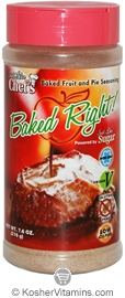 Just Like Sugar Kosher Baked Right! Just Like Chef's Baked Fruit & Pie Seasoning 7.6 OZ