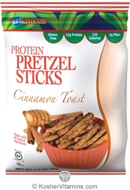 Kay's Naturals Kosher Protein Pretzel Sticks Cinnamon Toast Gluten Free Dairy Case of 6 1.2 OZ