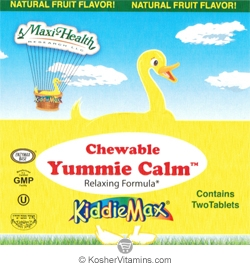 Maxi Health Kosher KiddieMax Yummie Calm Chewable Fruit Flavor - Free with a $49 Purchase 1 Pack