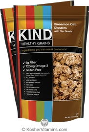 Kind Kosher Healthy Grains Clusters Cinnamon Oat with Flax Seeds Dairy 6 Pack 11 OZ