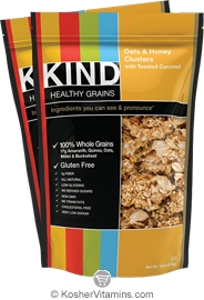 Kind Kosher Healthy Grains Clusters Oats & Honey with Toasted Coconut Dairy 6 Pack 11 OZ