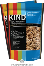 Kind Kosher Healthy Grains Clusters Vanilla Blueberry with Flax Seeds Dairy 6 Pack 11 OZ
