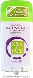 Kiss My Face Deodorant Active Life Stick Lavender 2.48 OZ