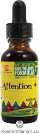 L.A. Naturals Kosher Attention+ Kids Wellness Formula Alcohol Free 1 OZ