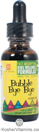 L.A. Naturals Kosher Bubble Bye Bye Childrens Wellness Formula Alcohol Free 1 OZ