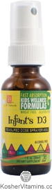 L.A. Naturals Kosher Infant's D3 Spray 400 IU Kids Wellness Formula Alcohol Free Liquid Citrus Flavor 1 OZ
