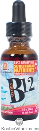 L.A. Naturals Kosher Vitamin B12 Drops Liquid Raspberry Flavor 1 OZ