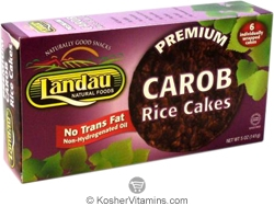 Landau Kosher Premium Rice Cakes Carob Individually Wrapped 6 Pack 5 OZ