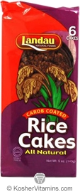 Landau Kosher All Natural Rice Cakes Carob Coated 6 Cakes