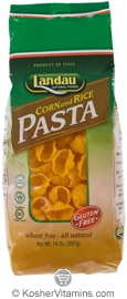 Landau Kosher Corn and Rice Pasta Shells Gluten Free 14 OZ
