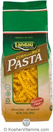 Landau Kosher Corn and Rice Pasta Spirals Gluten Free 14 OZ