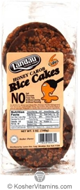 Landau Kosher All Natural Rice Cakes Honey Carob Coated 6 Cakes