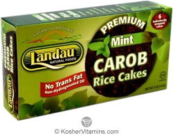Landau Kosher Premium Rice Cakes Mint Carob Individually Wrapped 6 Pack 5 OZ