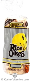 Landau Kosher Whole Grain Brown Rice Cakes Sesame Lightly Salted Case of 12 4.9 OZ