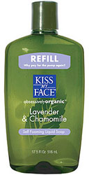 Kiss My Face Self Foaming Liquid Soap Lavender And Chamomile 17.5 OZ