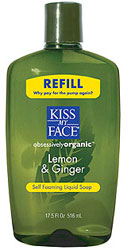 Kiss My Face Self Foaming Liquid Soap Refill Lemon & Gingr 17.5 OZ