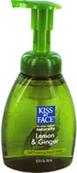 Kiss My Face Self Foaming Liquid Soap  Lemon & Ginger 8.75 OZ