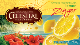 Celestial Seasonings Kosher Lemon Zinger 20 Tea Bags