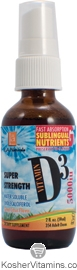 L.A. Naturals Kosher Vitamin D3 Spray 5000 IU Liquid Citrus Flavor 2 OZ