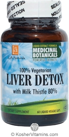 L.A. Naturals Liver Detox Vegetarian Suitable not Certified Kosher 60 Liquid Vegetable Capsules