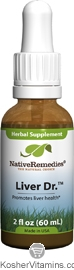 Native Remedies Kosher Liver Dr. with Milk Thistle and Dandelion 2 OZ