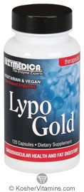 Enzymedica Kosher Lypo Gold: Optimizes Fat Digestion 60 Capsules
