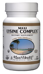Maxi Health Kosher Maxi Lysine Complex with Probiotics 60 Vegicaps