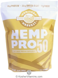 Manitoba Harvest Kosher Hemp Pro 50 Whole Food 50% Protein Powder 32 OZ