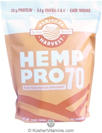 Manitoba Harvest Kosher Hemp Pro 70 Water Soluble 70% Protein Concentrate 32 OZ