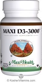 Maxi Health Kosher Vitamin D3 3000 IU 90 Tablet