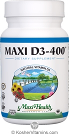 Maxi Health Kosher Vitamin D3 400 IU 90 Tablets