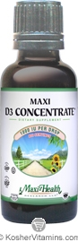 Maxi Health Kosher Vitamin D3 Concentrate 1000 IU Liquid 1 OZ