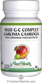Maxi Health Maxi GC Complex Garcinia Cambogia with Chromium Polynicotinate - NOW KOSHER 90 MaxiCaps