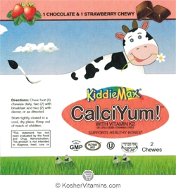 Maxi Health Kosher KiddieMax CalciYum (Calcium) Chewable Variety Pack - Free with a $49 Purchase 2 Chewies