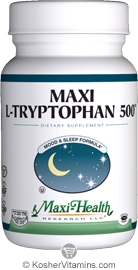 Maxi Health Kosher L-Tryptophan 500 Mg (Mood & Sleep Formula) 90 MaxiCaps